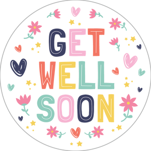 Get Well Soon Sticker - Sparty Girl