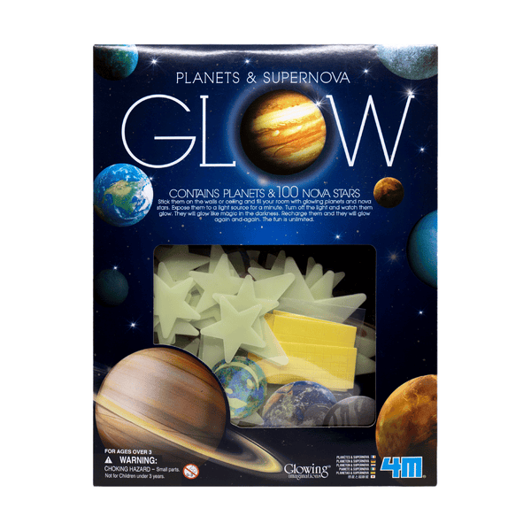 4M GLOW IN THE DARK PLANETS AND SUPERNOVA STARS