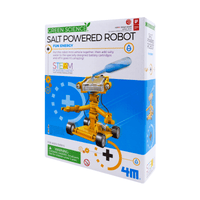 4M GREEN SCIENCE SALT POWERED ROBOT