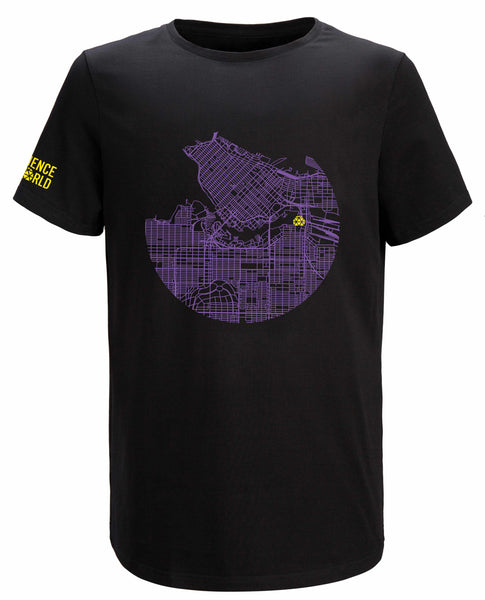 MAP OF VANCOUVER ADULT T-SHIRT