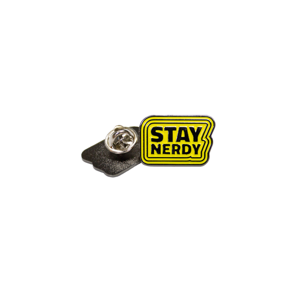 STAY NERDY ENAMEL PIN