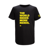 THE WORLD NEEDS MORE NERDS ADULT T-SHIRT