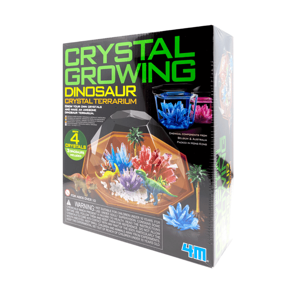 4M CRYSTAL GROWING DINOSAUR CRYSTAL TERRARIUM