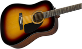 Fender CD-60 Dreadnought V3 w/Case, Walnut Fb, Sunburst