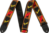 Fender 2'' Monogrammed Strap, Black/Yellow/Red