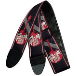 Gibson ASGG-700 Woven Strap with Logo Red