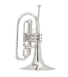 King 1121SP King Marching Brass - Background Brass Silver-Plate Finish
