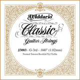 D'Addario J3003 Rectified Classical Single String, Normal Tension, Third String