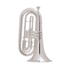 King 1127SP King Marching Brass - Background Brass Silver-Plate Finish