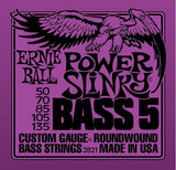 2821 Ernie Ball Power Slinky Bass 5 String PURPLE