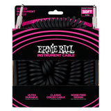 6044 Ernie Ball 30 Ft. Coil Cable Straight / Straight Black Jacket Pink Sleeve