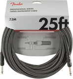 Fender Professional Series Instrument Cable, 25', Gray Tweed