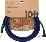 Fender Festival Instrument Cable 10 ft Angled, Blue Dream