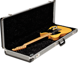 Fender G&G Deluxe Strat/Tele Hardshell Case, Black Tweed with Black Interior