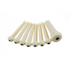 Fender Bridge Pin Set, Ivory with Black Dot (7)