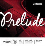D'Addario Prelude Violin Single G String, 3/4 Scale, Medium Tension