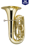 King 2341WSP BBb Tuba - 4 Valve - Background Brass Silver Plated, W Case