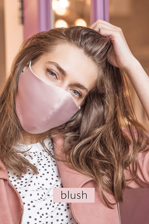 100% Pure Mulberry Silk Face Mask. Double layer with Adjustable Ear Loops and filter pocket. Soft Comfortable Reusable  Seamless fit fashionfacemask-uae.com