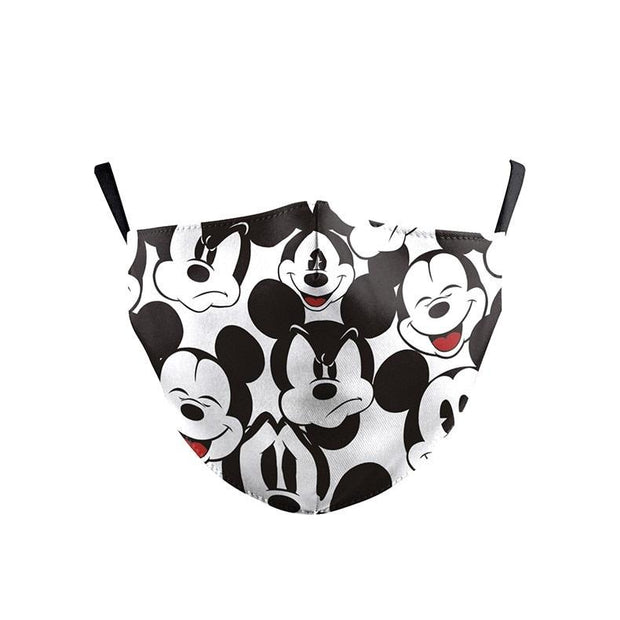 Adult Face Mask Disney Mickey Mouse Print With Carbon Filter fashionfacemask-uae.com