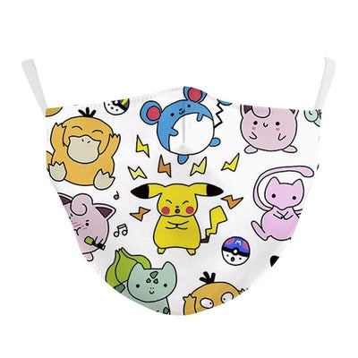 Adult Face Mask Pokemon Pikachu With Carbon Filter fashionfacemask-uae.com