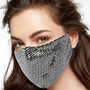 Fashion Glitter Sequin Mask fashionfacemask-uae.com
