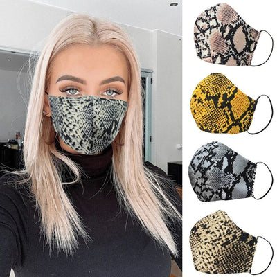 Fashion Snake Skin Face Mask For Women Comfortable Washable Reusable fashionfacemask-uae.com