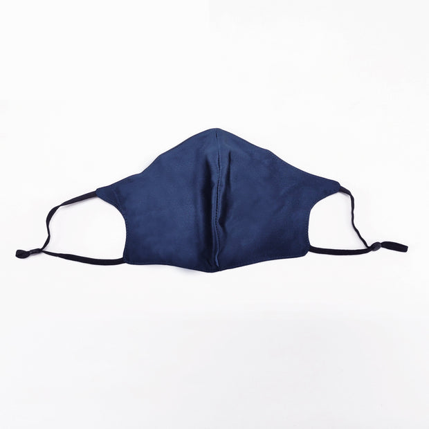 Luxury Mulberry Silk Face Mask - Navy fashionfacemask-uae.com