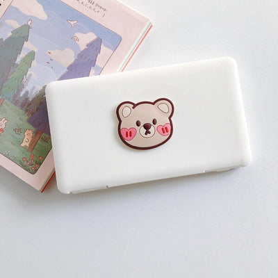 Portable Kids Mask Storage Carry Case Dust proof, Moisture proof  - Cute Bear fashionfacemask-uae.com