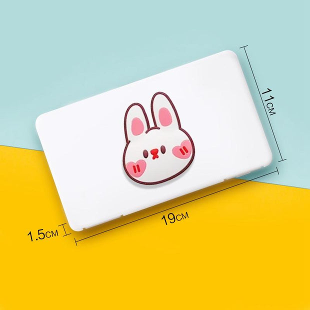 Portable Kids Mask Storage Carry Case Dust proof, Moisture proof  - Cute Bunny fashionfacemask-uae.com