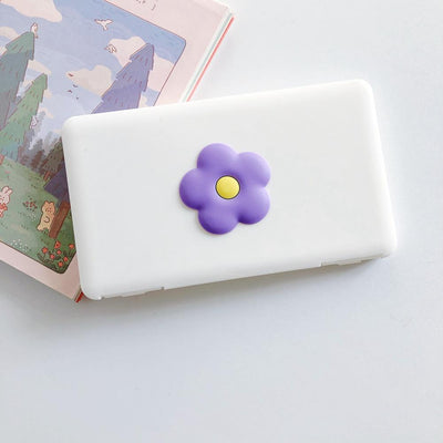 Portable Mask Storage Carry Case Dust proof, Moisture proof  - Purple Flower fashionfacemask-uae.com