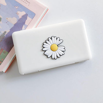 Portable Mask Storage Carry Case Dust proof, Moisture proof  - White Flower fashionfacemask-uae.com