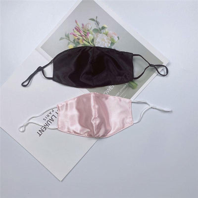 Satin Face Mask - Lightweight with Adjustable Ear Loops and Filter Pocket fashionfacemask-uae.com
