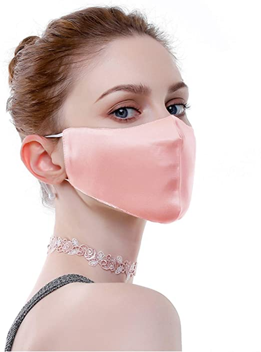 Silk satin face mask, soft and comfortable fashionfacemask-uae.com