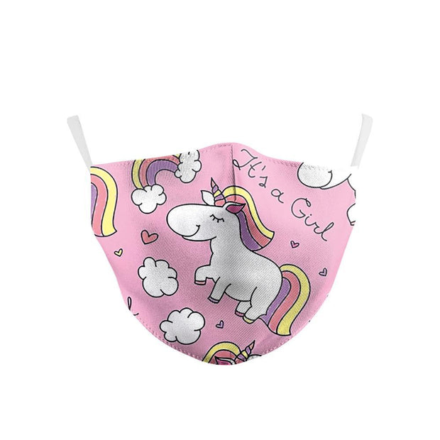 Unicorn Kids Mask With Carbon Filter - Ultra-Comfortable, Reusable, Portable, Foldable Lightweight Girls Unicorn fashionfacemask-uae.com