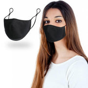 Unisex Classic Mask - Seamless Fit Plain Reusable Mask Black Color fashionfacemask-uae.com