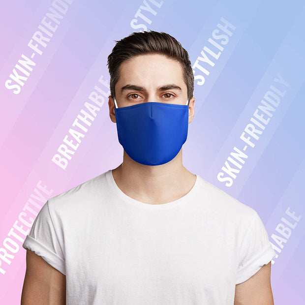 Unisex Classic Mask 3 Layers Cotton - Seamless Fit Plain Reusable Protective Mask PM2.5 Filters fashionfacemask-uae.com