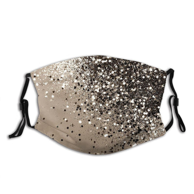 Women Golden Pattern Casual Cloth Mask with Filter Pocket, Fabric, Washable Reusable Mask fashionfacemask-uae.com