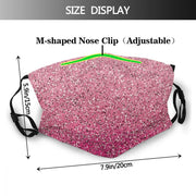 Women Pink Pattern Casual Face Cover with Filter Pocket, Fabric, Washable Reusable Mask fashionfacemask-uae.com