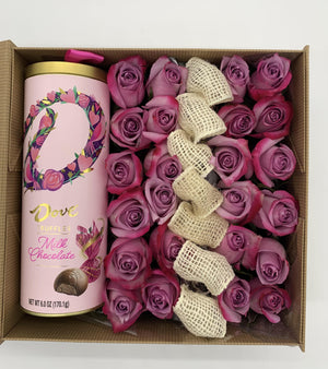 Fresh Roses & Chocolate - Benzie Gifts