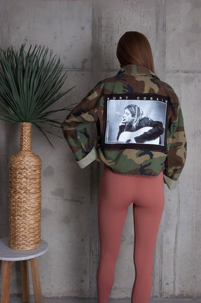 Kurt Cobain Cropped Jacket