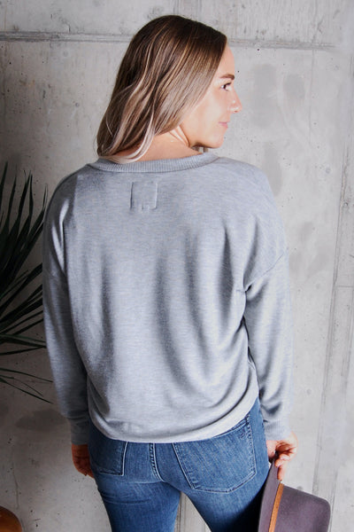 Cropped and Cozy V-Neck