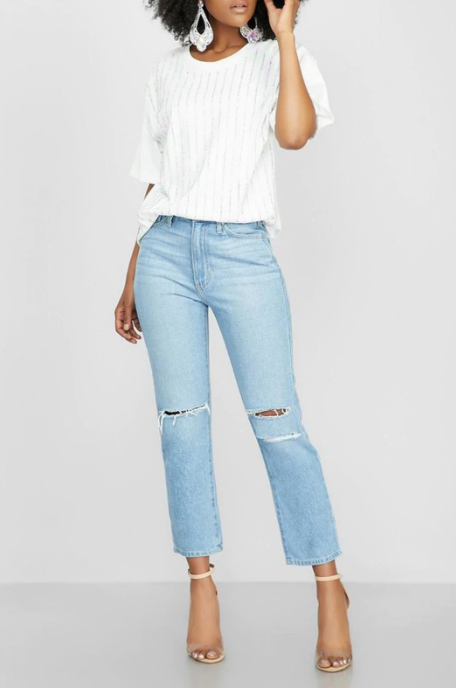 High Rise Mom Jean in Light Denim