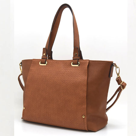 Two-tone Embossed Shopper