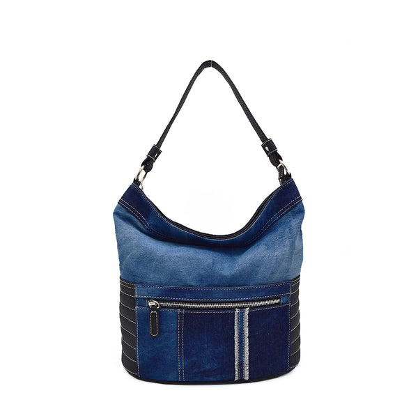 Denim Patchwork Hobo
