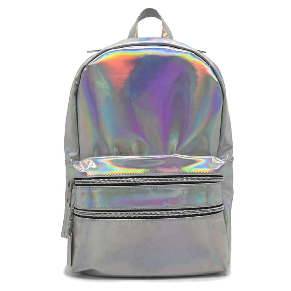 Silver Shiny Backpack