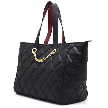 Black Qulited Shopper