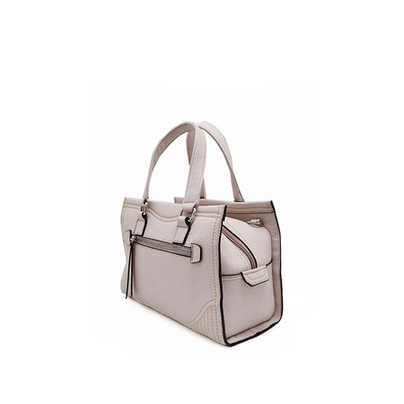 White Embossed Shoulder Bag