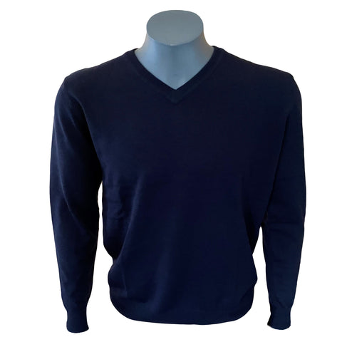 MENS MERINO V-NECK