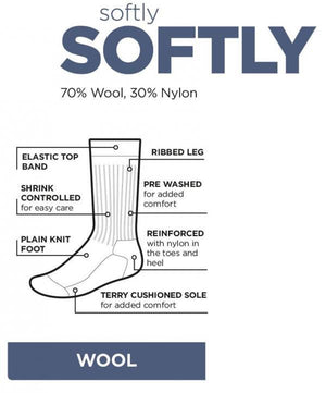 NORSEWEAR SOFTLY SOFTLY WORKING SOCK