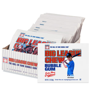 Personalized Big League Chew - Tray & 12-Mini Posters Package